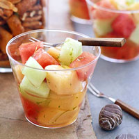 Melon Salad with Lime Syrup
