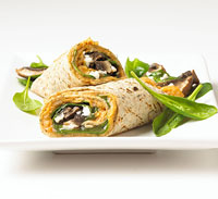 Portobello Wrap with White Bean-Chile Spread