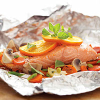 Salmon-Vegetable Bake