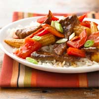 Szechwan Beef Stir-Fry Recipe | Better Homes & Gardens Cookbook
