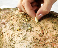 Herb-Rubbed Leg of Lamb