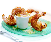 Baked Coconut Shrimp with Curried Apricot Sauce