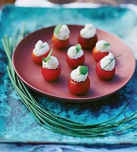 Lemon, Pepper and Goat Cheese-Stuffed Tomatoes