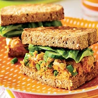 Chicken Carrot Salad Sandwiches