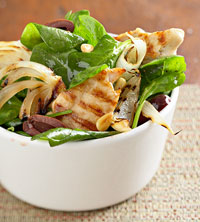 Grilled Chicken Wilted Salad
