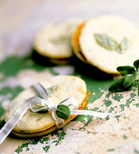 Apricot Preserve and Sage Cookies