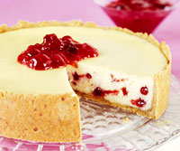 Scarlet-and-Cream Cheesecake