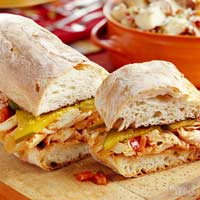 Ciabatta Pulled Chicken Sandwiches