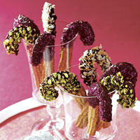 Chocolate-Coated Cinnamon Candy Canes