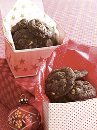 Chocolate-Coffee-Toffee-Walnut Cookies