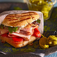 Smoked Chicken and Prosciutto Panini