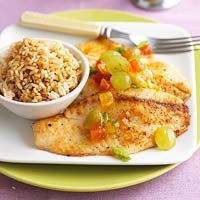 Tilapia with Grape Chutney