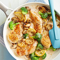 Chicken and Lemon-Broccoli Alfredo