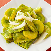 Ravioli with Spinach Pesto