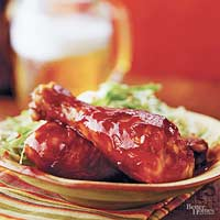 Chicken Drumsticks with Barbecue Sauce