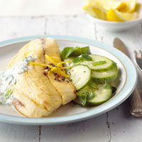 Tilapia with Ginger-Marinated Cucumbers