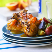 Ginger Peach Glazed Chicken