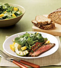 Southwest Steak with Mango Salad