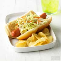 Franks with Napa Slaw