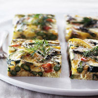 Asparagus-Zucchini Frittata