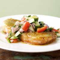 Pork Chops with Lime Salsa