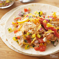 Fajita-Ranch Chicken Wraps