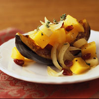 Braised Parsnips, Squash, and Cranberries