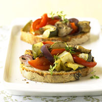Open-Face Ratatouille Sandwiches