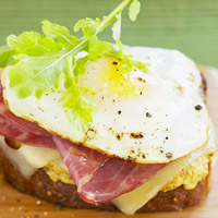 Greens, Eggs, and Ham Sandwich