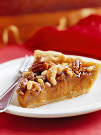 Mixed-Nut Maple Pumpkin Pie
