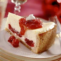 Scarlet-Swirl Cheesecake