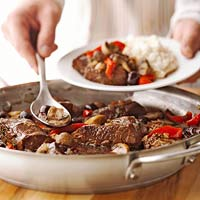 Skillet Pot Roast with Cherries