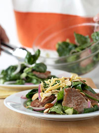 Maple-Pork Wilted Salad