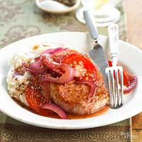 Pork and Potatoes with Tomato Relish