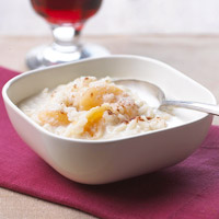 Rice Pudding with Dried Apricots