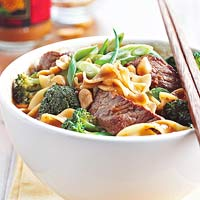 Spicy Beef-Noodle Bowl