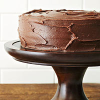 Chocolate Sour Cream Cake with Fudgy Frosting