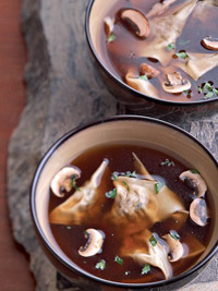 Mushroom Ravioli Soup