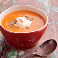 Sweet Potato Soup with Chipotle Cream