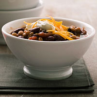 Three-Bean Vegetarian Chili
