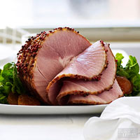 Peppercorn-Crusted Ham