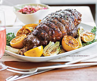 Leg of Lamb with Apple-Mint Chutney