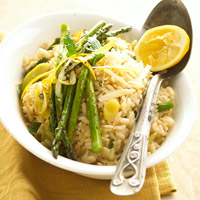 Asparagus-Leek Risotto