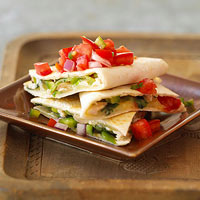 Chicken Quesadillas with Peppers