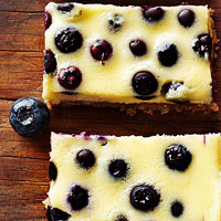 Coconut-Blueberry Cheesecake Bars
