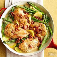 Chicken and Asparagus Skillet Supper