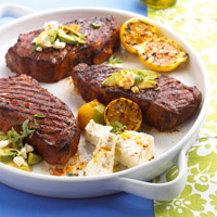 Mediterranean Strip Steaks