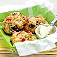 Lemony Scones with Dried Fruit
