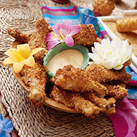 Macadamia Nut-Crusted Chicken with Honey-Mustard Sauce