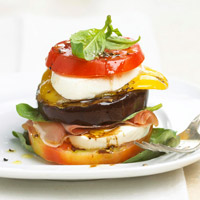 Tomato and Grilled Veggie Stack
